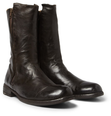 Officine Creative Shearling-Lined Leather Boots