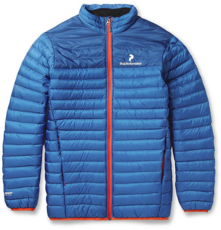 Peak Performance Black Light Blue Down-Filled Skiing Jacket
