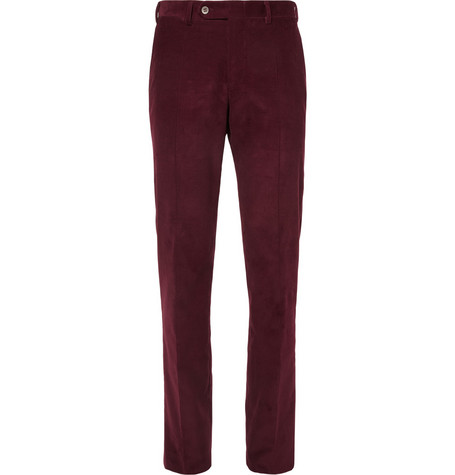 Canali Tapered Corduroy Trousers