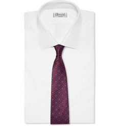 Canali Patterned Woven-Silk Tie