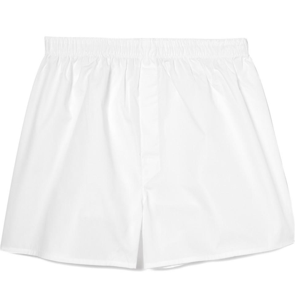 Cotton Boxer Shorts - White