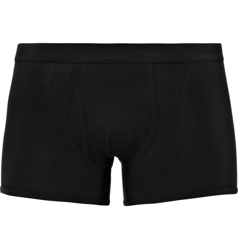 Superfine Cotton-jersey Boxer Briefs - Black