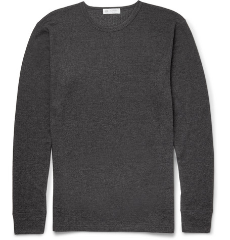 Sunspel Long-Sleeved Thermal T-Shirt