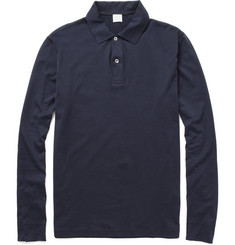 Sunspel - Long-Sleeved Cotton-Jersey Polo Shirt