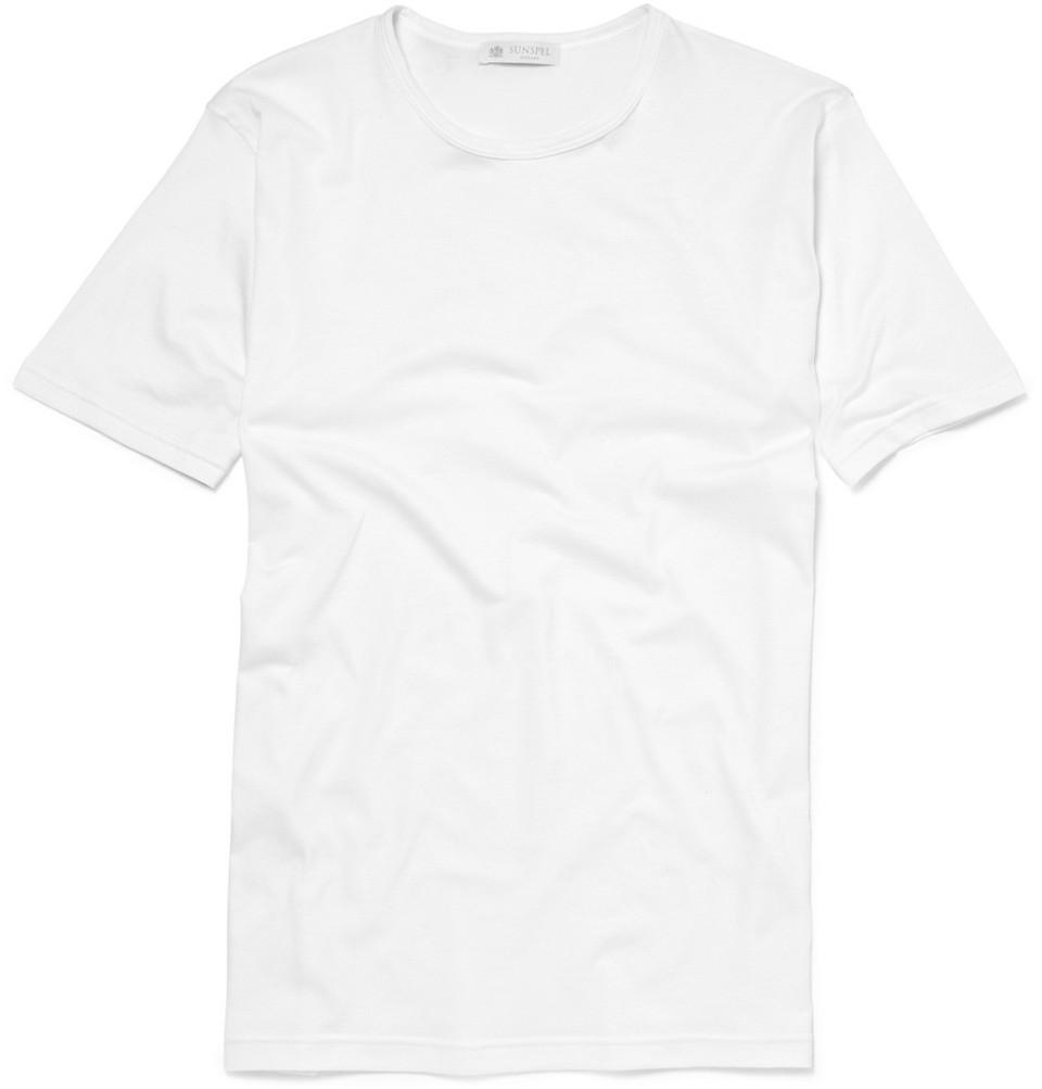 Sunspel Crew-Neck Superfine Cotton Underwear T-Shirt