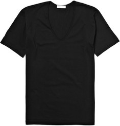 Sunspel V-Neck Cotton T-Shirt