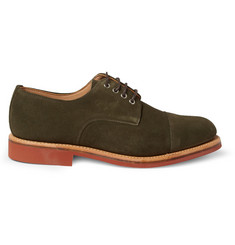 Oliver Spencer Suede Contrast-Sole Derby Shoes