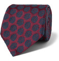 Charvet Patterned Silk and Wool Tie