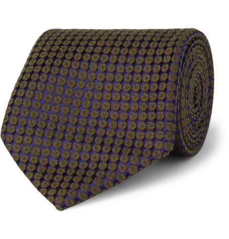 Charvet Patterned Silk and Wool-Blend Tie
