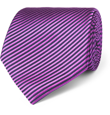 Charvet Striped Woven-Silk Tie