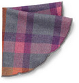 Alexander Olch Plaid Wool Pocket Round