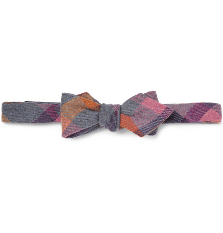 Alexander Olch Plaid Wool Bow Tie
