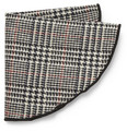 Alexander Olch Prince Of Wales Check Wool Pocket Round