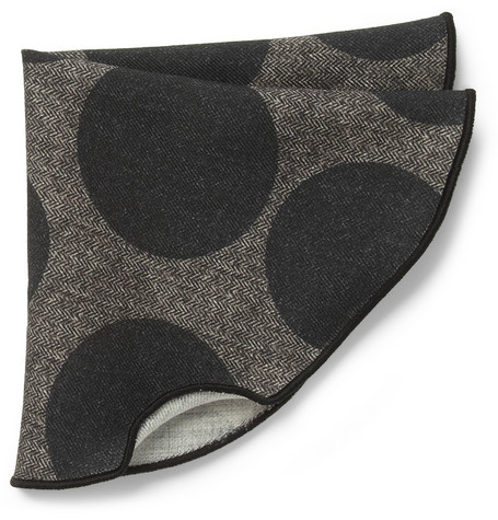 Alexander Olch Twice Printed Wool Pocket Round