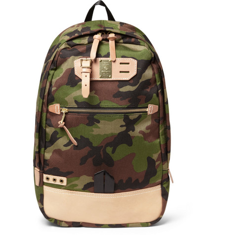 Master-Piece Surpass Camouflage Nylon and Leather Backpack