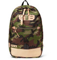 Master-Piece - Surpass Camouflage Nylon and Leather Backpack