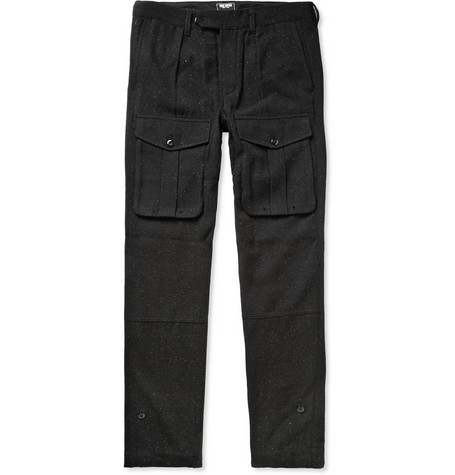 Todd Snyder Tapered Wool-Blend Cargo Trousers
