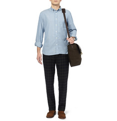 Todd Snyder Dot-Print Selvedge Cotton-Chambray Shirt