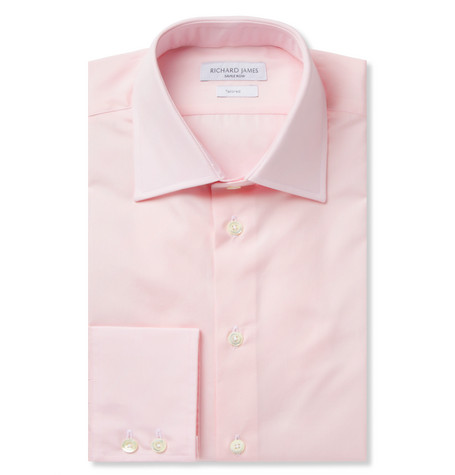 Richard James Pink Cotton-Poplin Shirt