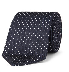 Turnbull & Asser Swiss Dot Silk-Twill Tie