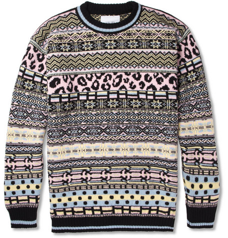 Sibling Oversized Fair Isle Lambswool Sweater