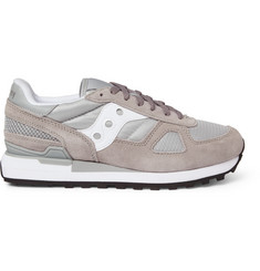 Saucony Shadow Original Suede and Mesh Sneakers