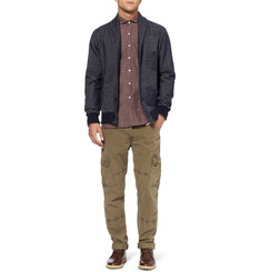Oliver Spencer Round Collar Check Cotton Shirt