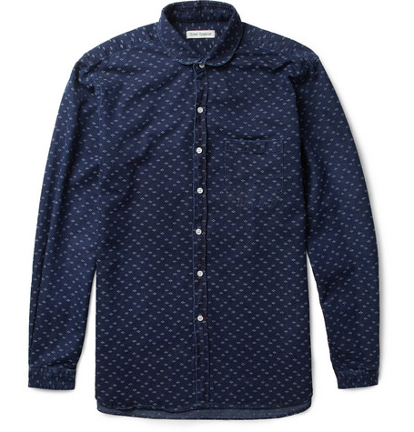Oliver Spencer Jacquard-Woven Cotton Shirt