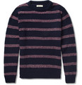 Oliver Spencer - Striped Wool-Blend Crew Neck Sweater