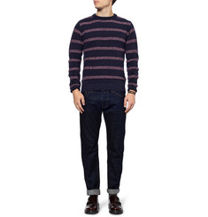 Oliver Spencer Striped Wool-Blend Crew Neck Sweater