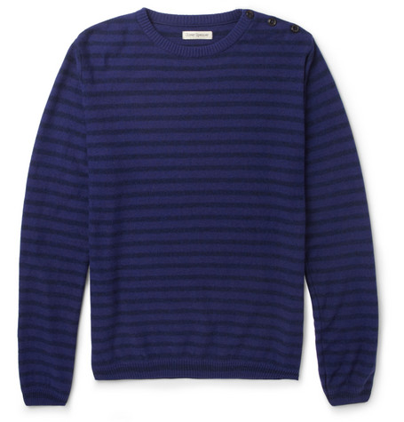 Oliver Spencer Striped Knitted Crew Neck Sweater