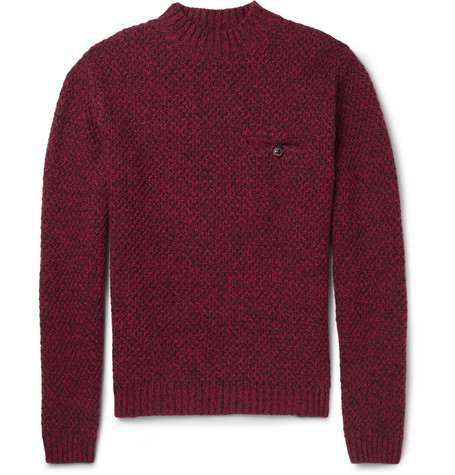 Oliver Spencer Elbow Patch Wool-Blend Sweater