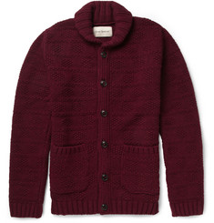 Oliver Spencer Chunky Patterned Lambswool-Blend Cardigan
