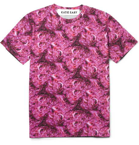 Katie Eary Flower-Print Cotton-Jersey T-Shirt