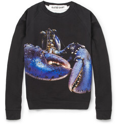 Katie Eary Lobster-Print Fleece-Back Cotton Sweatshirt