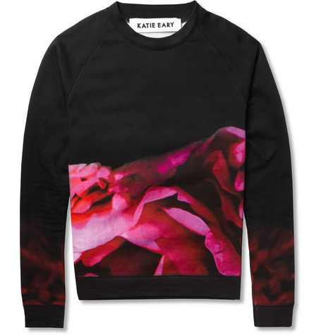 Katie Eary Flower-Print Cotton-Jersey Sweatshirt