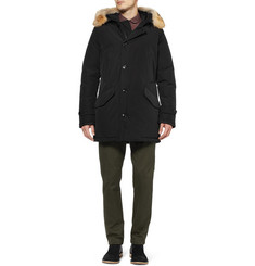 Woolrich Polar Parka Coyote-Trimmed Down-Filled Coat