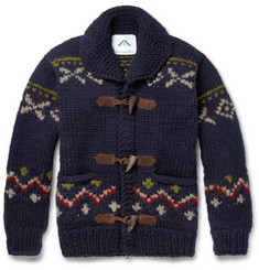 Ovadia & Sons Patterned Chunky-Knit Wool Sweater