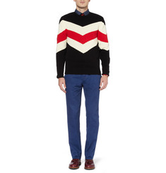 Ovadia & Sons Striped Knitted Cotton Sweater