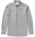 Ovadia & Sons - Midwood Suede Elbow Patch Gingham Shirt