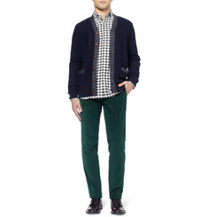 Ovadia & Sons Midwood Suede Elbow Patch Gingham Shirt