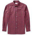 Ovadia & Sons - Midwood Suede-Trimmed Gingham Cotton-Flannel Shirt