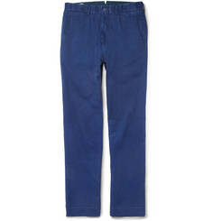 Ovadia & Sons Relaxed-Fit Washed Cotton-Twill Chinos
