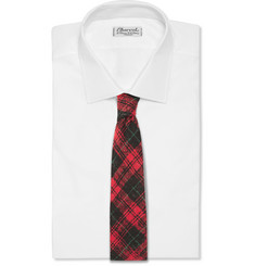 Ovadia & Sons Plaid Slub Silk Tie