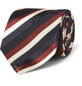 Sulka - Striped Silk and Cotton-Blend Tie