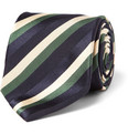 Sulka Striped Silk and Cotton-Blend Tie