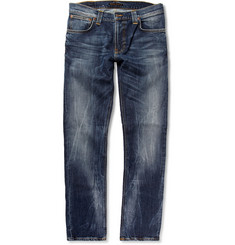 Nudie Jeans Thin Finn Slim-Fit Washed Denim Jeans