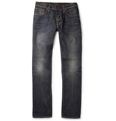 Nudie Jeans Grim Tim Slim-Fit  Organic Washed-Denim Jeans