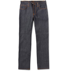 Nudie Jeans Slim Jim Straight-Fit Organic Dry Denim Jeans