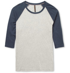Nudie Jeans Three-Quarter Raglan-Sleeve Organic Cotton-Jersey T-Shirt